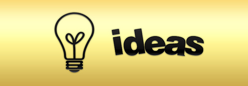 Lightbulb and ideas logo