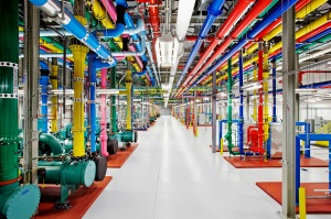 Pipes in Google data center